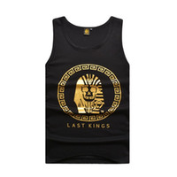 Wholesale High Quality Print Cotton Last Kings Clothing Tyga Men Hip Hop Tank Top Fashion Star Streetwear Vest Size L XL XXL SLK1409