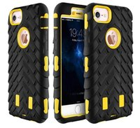 armor types - For iPhone Silicone Hard Plastic Case Tire Type Heavy Duty Dual Layer Armor Defender Cover For Apple iPhone