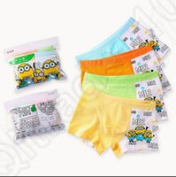 Wholesale KKA213 Cartoon Cotton Boxer Briefs Underwear Underpants for Boys Kid despicable me minions boxer Boy Cartoon underwear