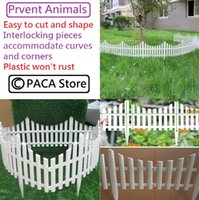 Wholesale cm Plastic White Plug In Fence Garden Decoration Fence is corrosion resistant and weather resistant