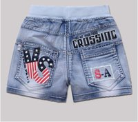 Wholesale The girl in the child Summer Denim Shorts New Summer children s wear thin cotton loose and casual