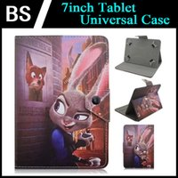 Wholesale 7 inch Tablet PC Universal Cute Cartoon Movie Animal Zootopia Star Wars Snoopy Dog Design PU Leather Back Cover Folio Stand Up Shell