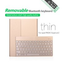 Wholesale For iPad Air iPad Detachable Colors Backlight Wireless Bluetooth Keyboard Ultrathin PU Leather Case Stand Cover