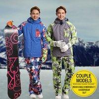 Wholesale Men Ski suit Winter Outdoor Ski Jacket Men s Snowboard Skiing Waterproof Thermal Warm Jackets pants