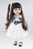 Jouet en gros de vinyle bon marché 18 pouces fille américaine Lifelike Baby Alive Doll Poupée de princesse de collection Princess Girl Reborn personnalisé
