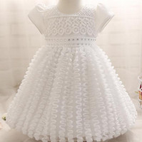 american fence - 0 yrs Newborn baby Chain Link Fence Baptism summer Dresses Christening Gown kids Girls party Princess wedding dress