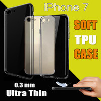 Wholesale 0 mm Ultra Thin Slim Soft TPU Silicone Rubber Clear Transparent Case For iPhone Plus S S Samsung S5 E5 E7 C5 C7 Free Ship MOQ