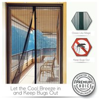 Wholesale Magic Mesh Magnetic Screen Door Cover hands free entry and exit for both people and pets