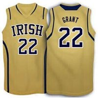 basketball grants - Jerian grant Notre Dame Fighting Irish Basketball Jersey yellow White Embroidery Stitched Personalized Custom any size and name Jerseys