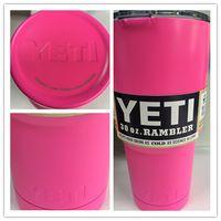 Wholesale In Stock Stainless Steel oz Yeti Cups YETI Rambler Tumbler Cup Vehicle Beer Mug OZ Yeti Coolers Rambler Colster