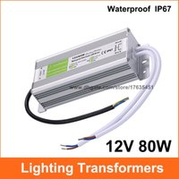 Wholesale AC DC V A Lighting Transformer Power Supply V W LED Driver Waterproof Adapter IP67 For Light Strip