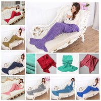 bar spring - Mermaid Tail Blanket Hand Crocheted Mermaid Blankets Adult Super Soft Mermaid Costume Sofa Mermaid Bedding Sleeping Bag X90cm C28