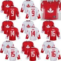 Cheap Mens Team Canada 9 Matt Duchene 14 Jamie Benn 16 Jonathan Toews 15 Ryan Getzlaf 2016 World Cup of Hockey Olympics Game White Jersey Stitched