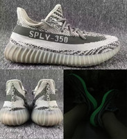 Wholesale New Grey White Boost V2 Turtle Dove Glow in Dark Men Women Running Shoes Cheap Kanye West Shoes For Sale