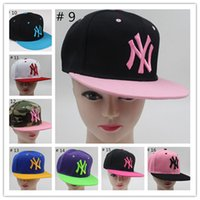Wholesale Snapbacks Baseball Cap NY Cartoon Unisex Baseball Cap Cotton Hat Outdoor New York Sports Flat Hat Fashion NY Hats Casquette