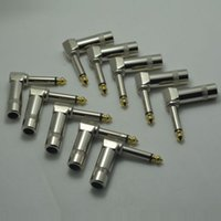 Wholesale 10pcs PLATED mm quot JACK PLUG Gilded connector for soldering
