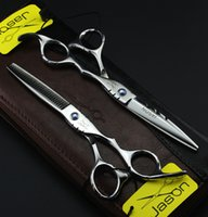 barber case - Good Quality Jason inch Professional Hair Scissors set Straight Thinning barber shears with razor comb case