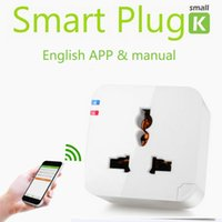 Wholesale Smart Wifi plug socket outlet Kankun with EU AU UK adapter Kankun k1 electrical socket to remote control by english app