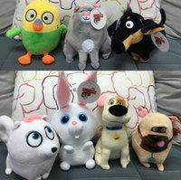 Wholesale The Secret Life of Pets plush toys CM cartoon Stuffed Animals toys The Secret Life of Pets plush dolls Cartoon Plush toy FREE SHIP D639