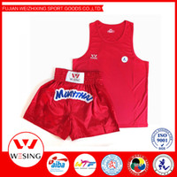 Wholesale free ship high quality muay thai shorts muay thai shirt muay thai uniform short muay thai