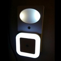 bathroom guide - Smart Control Light Sensor LED Night Light Plug in Wall as Guide Light for Finding Way in Hallway Bathroom Bedroom Kids Room