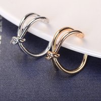 adjust tension - Hot Selling Fashion Adjusted Simple Couple Rings Bridal Sets Ring for Women Girls Bow Gold Silver Plated Party Ring