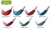 Wholesale 2016 camping hammock swing outdoor thickening canvas casual single double bearing pad with bag thick canvas outdoor camping hammock