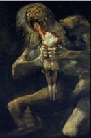 art son - Saturn Devouring His Son terrorist Genuine Handpainted Portrait Art Oil Painting On High Quality Canvas in customized size accepted