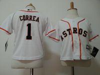 baseball jerseys toddlers - Toddler Houston Astros Carlos Correa White Jersey