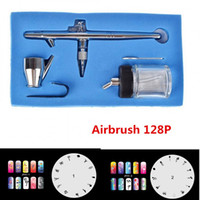 Wholesale 2016 New mm CC P Airbrush Double Action Professional Capacity Pen Spray Gun Kit Set with Nails Templates