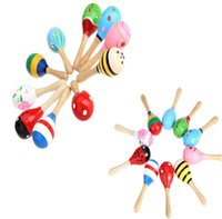 Wholesale High Quality Kids Children bady Toy Musical Toy Maraca Wooden Percussion Instrument for KTV Party Kids Children Toy Musical Instrument