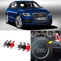 auto shifters - Auto parts Brand New High Quality Alloy Add On Steering Wheel DSG Paddle Shifters Extension For Audi SQ5