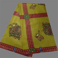 batik fabric designs - Fashion design textile cotton African wax fabric material printed batik for sewing clothing WF368 yards pc