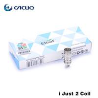 Acheter Eleaf melo-Eleaf Ijust 2 CE double Coil Têtes de remplacement hélicoïdaux authentiques pour Eleaf Ijust 2 atomiseur Melo Réservoir 0.3ohm 0.5ohm