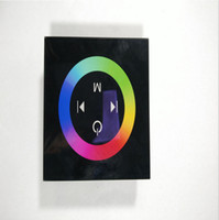 Wholesale DC12V V Channels A Channel Common Anode Touch Panel Wall Mounted Switch Full Color RGB LED Controller Rainbow RGB Controller
