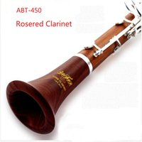 Wholesale Rose Wood Clarinet ABT Keys Bb with quality soft bag new type clarinet silver keys klarnet red klarinet
