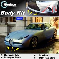 Wholesale Bumper Lip Lips For Alfa Romeo Nuvola AR Skirt Deflector Spoiler For Car Tuning The Stig Recommend Body Kit Strip