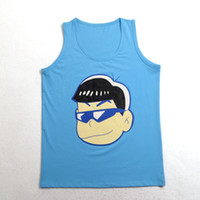 Wholesale Women Anime Cotton Vest Mr Osomatsu san Cosplay Tanks karamatsu Underwaist Sleeveless Shirt Summer Clothes Fast Shipmment