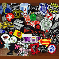 adhesive accessories - mix applique embroidery college badge blossom Hot melt adhesive clothing patch DIY accessories