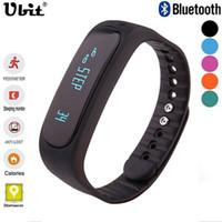 Wholesale Ubit Smartband E02 Health fitness tracker Sport Bracelet Waterproof Wristband for IOS Android Smart watch Band Bluetooth