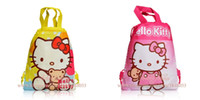 bag drawstring ribbon - 24pcs Hello Kitty cartoon backpacks handbags children s school bags kids drawstring shopping bags present Child infant handbag kids gift