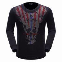 american flag sweater men - Autumn Trend New PP Big Skull Flag Logo Men s Philipp Fashion Sweater Coat