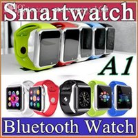 apples silicone watch - 10X A1 Smart Watch Bluetooth DZ09 U8Smartwatch Apple iWatch Support SIM TF Card Smart Wrist Watches With Silicone Strap Smartphone with F BS