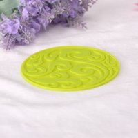 beautiful dirty - new style beautiful pattern green coaster household use tableware light heathly dirty resistant Eco friendly cm cm Circular mats