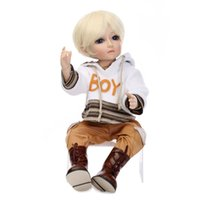 ball jointed doll clothes - Waterproof Reborn Boy Baby Doll Solid Silicone Vinyl Handmade Lifelike Gifts Gold Hair Fashion Clothes BJD Ball Jointed Dolls