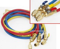 Wholesale HVAC AC Charging Hoses R134a R410A R22 color quot Fitting w Ball Valves
