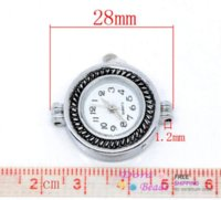 Wholesale 2 Silver Tone Round Quartz Watch Faces x25mm B09961 seasons watch dv watch crazy beautiful free