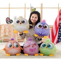 Cheap Stuffed Animals New five-color bird 3D angry bird plush Doll Toy baby pillow for Kid Toy Movies TV Cartoon Video