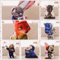 amazing rabbits - 7 design Amazing D Print Decorative Lovely Cushion Zootopia Pillows Nick Wilde And Judy Hopps Fox Rabbit Cushion LJJK91