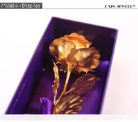 Wholesale Golden roses bouquet of k gold foil Chinese valentine s day present for his girlfriend The wife girl ideas